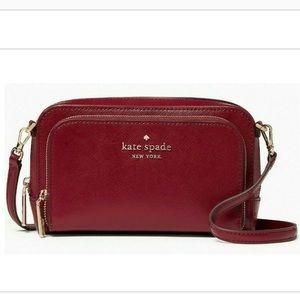 Kate Spade Staci Dual Zip Around Crossbody Bag.